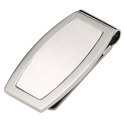 Stainless Steel Oblong Money Clip