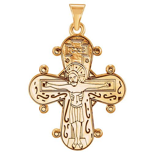 14k Yellow Gold Dagmar Cross Pendant 1in