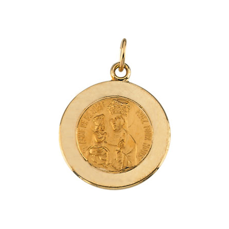 14k Gold 15mm St. Anne Medal