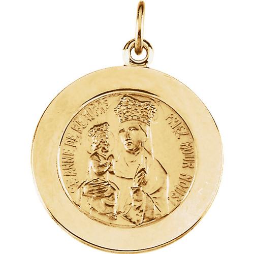 St. Anne Medal 18mm  - 14k Gold