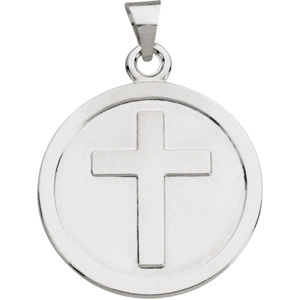 Sterling Silver 23mm Confirmation Medal