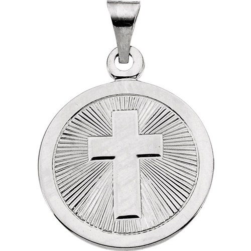 Sterling Silver 19mm Confirmation Medal