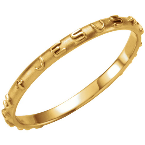 14kt Yellow Gold Ladies' Jesus I Trust In You Ring