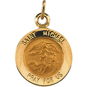 14kt Yellow Gold 12mm St. Michael Medal