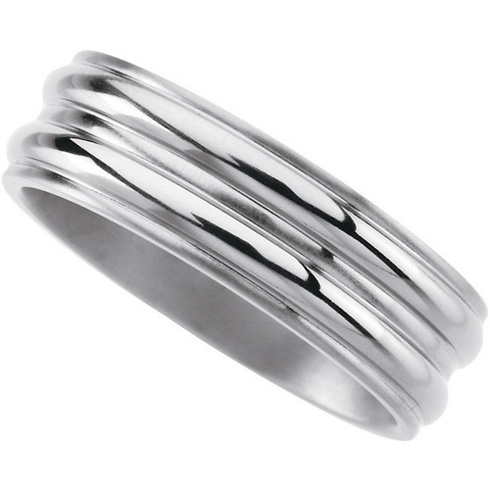 8mm Titanium Band with Ridges