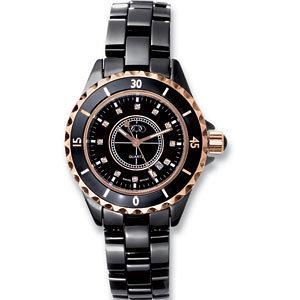 Black Ceramic & Rose Gold Midsized Watch
