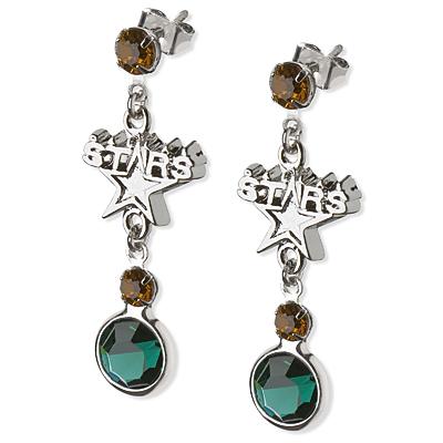 Dallas Stars Crystal Logo Earrings