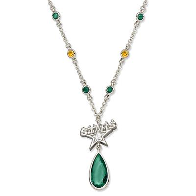 Dallas Stars Crystal Logo Necklace