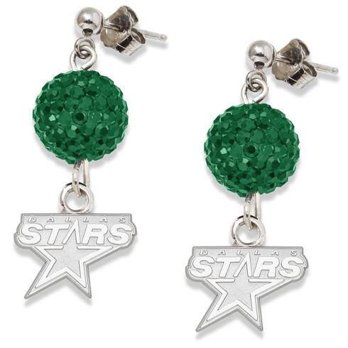 Sterling Silver Dallas Stars Crystal Ovation Earrings