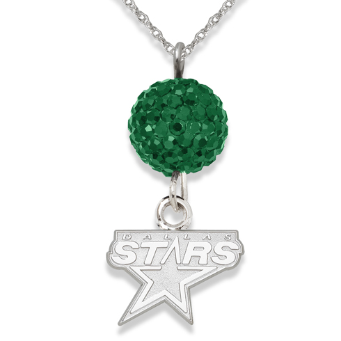 Sterling Silver Dallas Stars Crystal Ovation Necklace