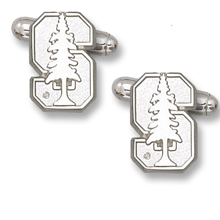 Sterling Silver 5/8in Stanford University Cufflinks