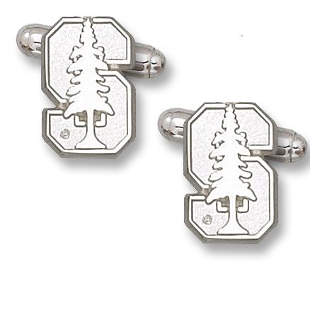 Sterling Silver 5/8in Stanford University Cufflinks