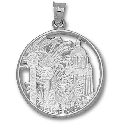 Sterling Silver 1in Stanford Hoover Tower Pendant