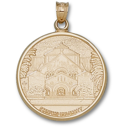 10kt Yellow Gold 1in Stanford University MemChu Pendant