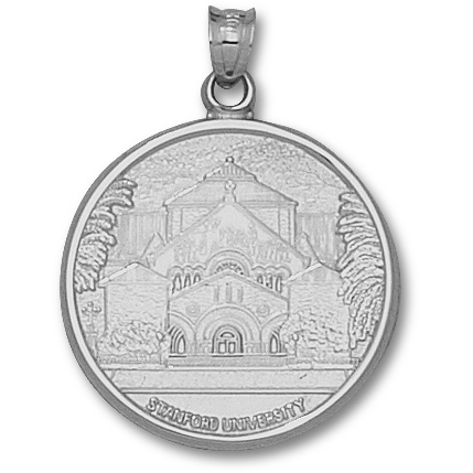 Sterling Silver 1in Stanford University MemChu Pendant
