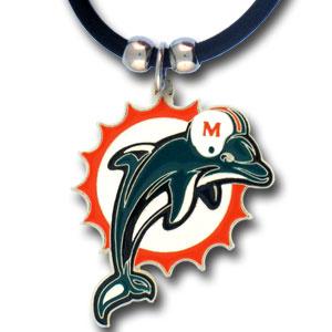Miami Dolphins NFL Logo Pendant