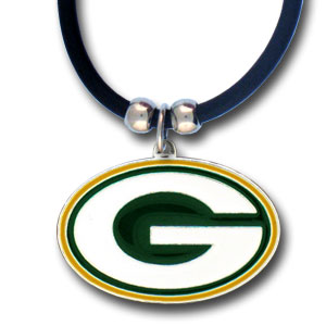 22in Green Bay Packers Zinc Logo Necklace