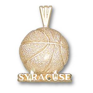 Syracuse Orangemen 1/2in 14k Basketball Pendant