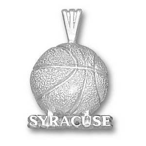 Sterling Silver 1/2in Syracuse Basketball Pendant