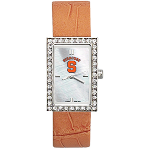 Syracuse Orangemen Starlette Leather Watch