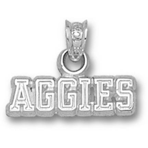 Sterling Silver 1/4in Texas A&M Aggies Pendant