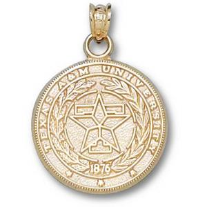 Texas A & M Aggies 11/16in 14k Seal Pendant