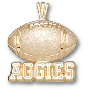 Texas A & M Aggies 5/8in 10k Football Pendant