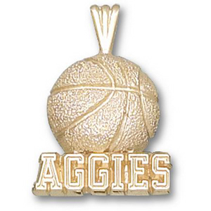 Texas A & M Aggies 5/8in 10k Basketball Pendant