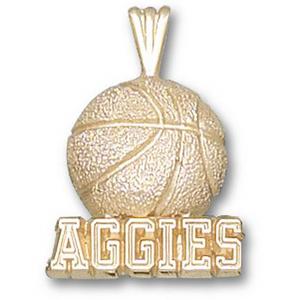 Texas A & M Aggies 5/8in 14k Basketball Pendant