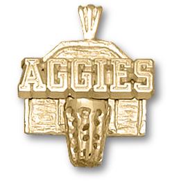 Texas A & M Aggies 5/8in 10k Backboard Pendant