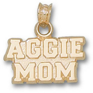 14kt Yellow Gold 3/8in Texas A&M Aggie Mom Pendant