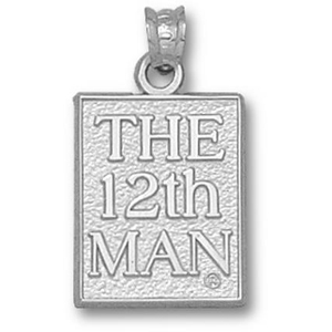 Texas A & M Aggies 5/8in Sterling Silver 12th Man Pendant