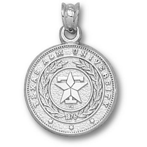 Sterling Silver 5/8in Texas A&M Seal Pendant