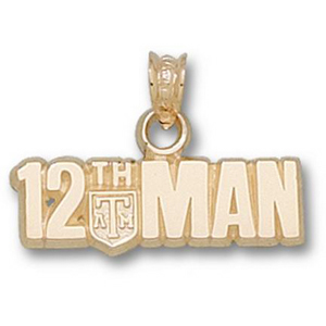 14kt Yellow Gold Texas A&M University 12th Man Pendant