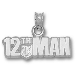 Sterling Silver Texas A&M University 12th Man Pendant