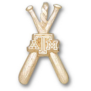 Texas A & M Aggies 3/4in 14k Bats Pendant
