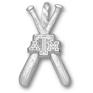 Sterling Silver 3/4in Texas A&M Bats Pendant