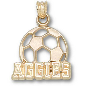 Texas A & M Aggies 5/8in 14k Soccer Pendant