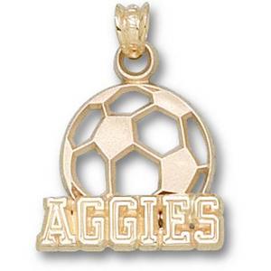 Texas A & M Aggies 5/8in 10k Soccer Pendant