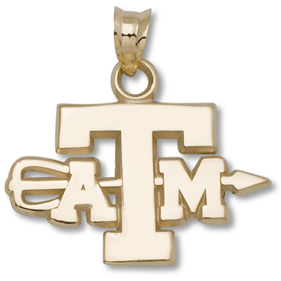 10kt Yellow Gold Texas A&M University Archery Pendant