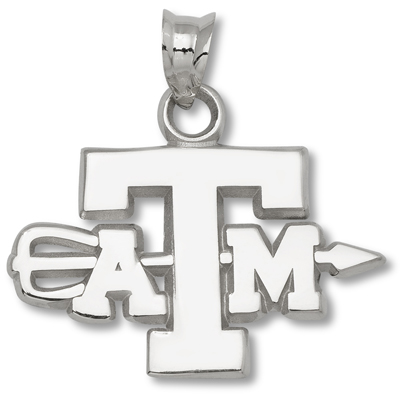 Sterling Silver Texas A&M University Archery Pendant