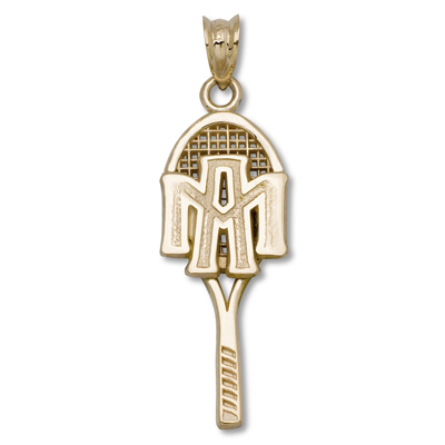 10kt Yellow Gold 1in Texas A&M University Tennis Pendant