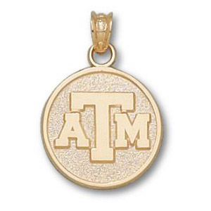 Texas A & M Aggies 5/8in 14k ATM Pendant