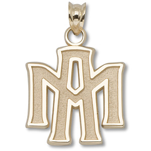 10kt Yellow Gold 5/8in Texas A&M Team Pendant