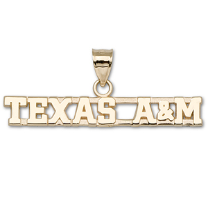 14kt Yellow Gold Texas A&M University Wordmark Pendant