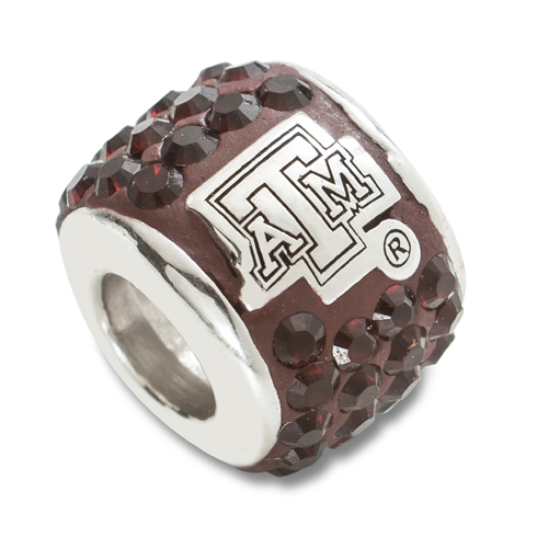 Sterling Silver Texas A&M Premier Bead Charm