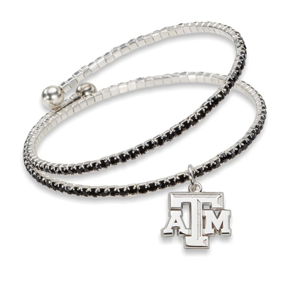 Texas A&M University Amped Logo Crystal Bracelet