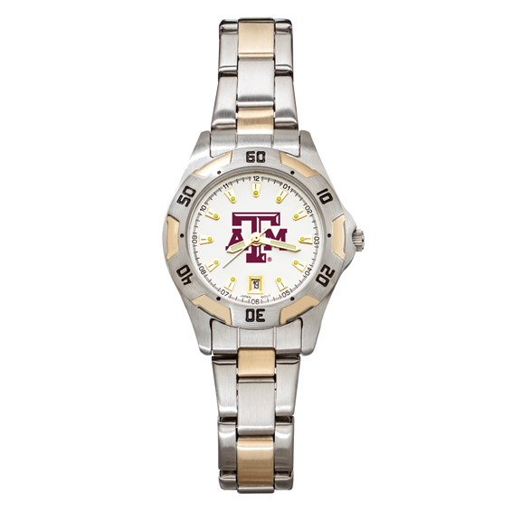 Texas A&M University Women's All-Pro Two Tone Watch