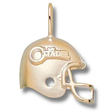 Citadel Bulldogs 3/4in 14k Helmet Pendant