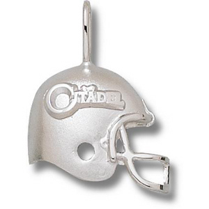 Sterling Silver 3/4in The Citadel Football Helmet Pendant